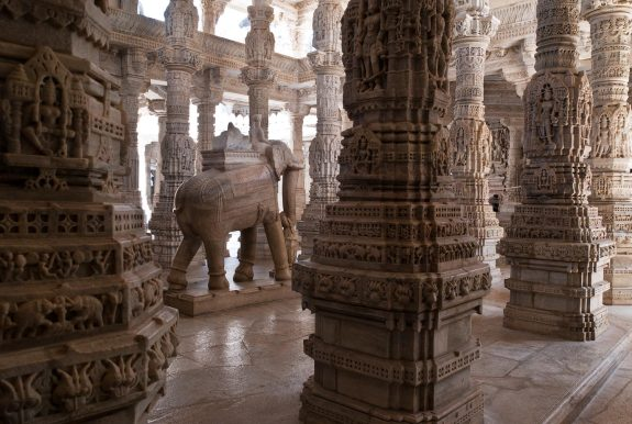 Beautiful Pillars at Jain-Temple