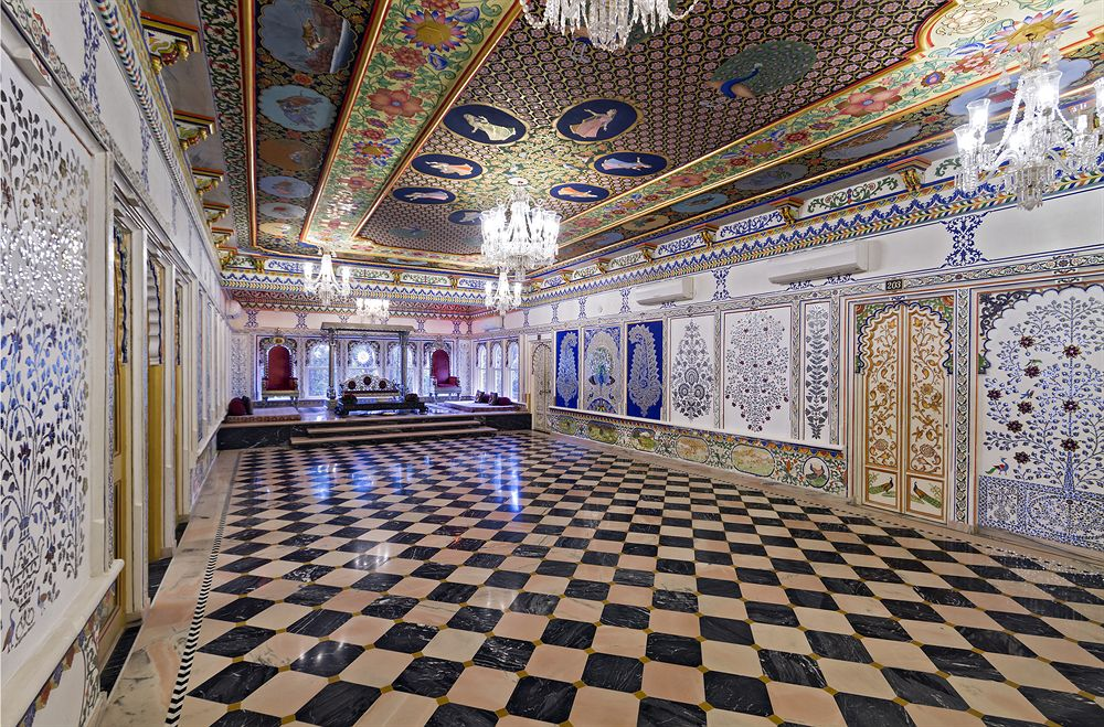 Udaipur Palace Interior Interior in Chunda Palace
