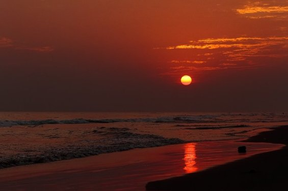 Sunset View in Puri Beach